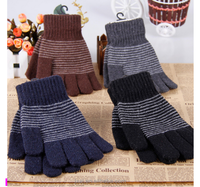 Wholesale men's gloves warm winter gloves full finger fingers knitted gloves