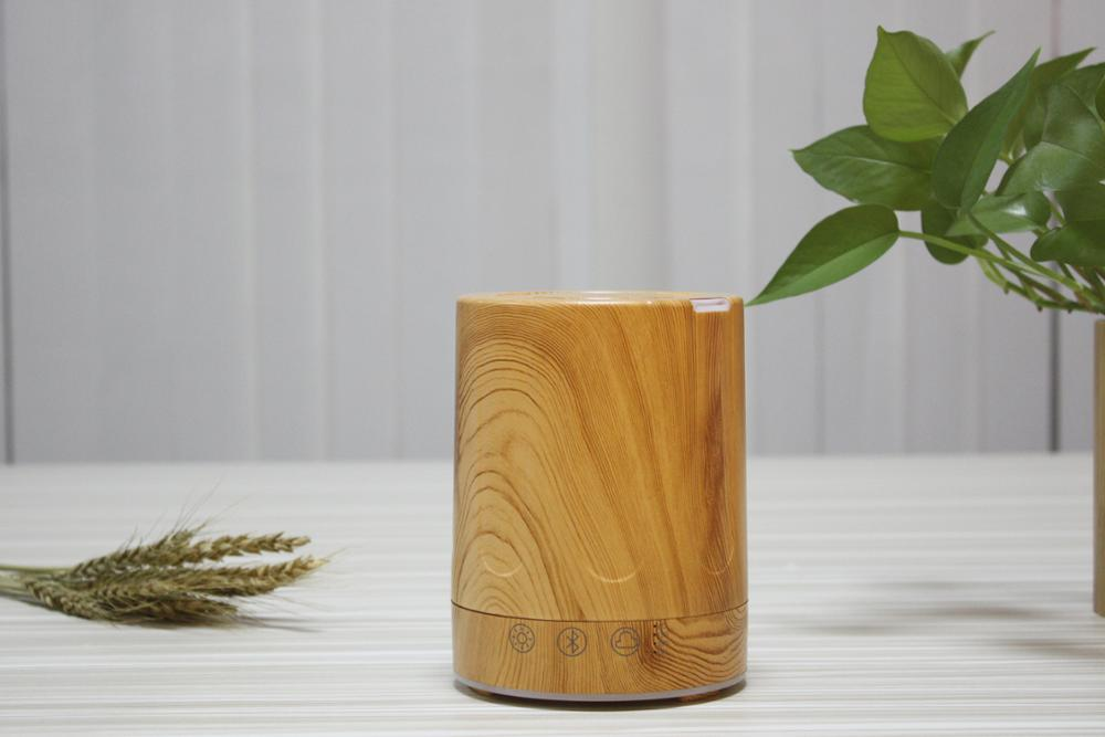 2018 ultrasonic electric aroma scent essential oil air diffuser machine wood natural bamboo with Bluetooth Speaker