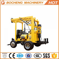 Trailer mounted water well rig drilling machine portable180/hydraulic drilling rig for sale/oil platform for sale