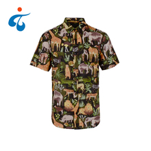 Factory price exotic polyester cotton bangkok hawaiian shirts