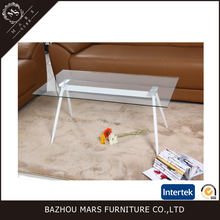 2016 new model living room furniture glass coffee table modern