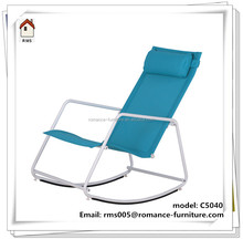 steel frame colorful rocking chair fabric outdoor or indoor leisure rocking chair C5040