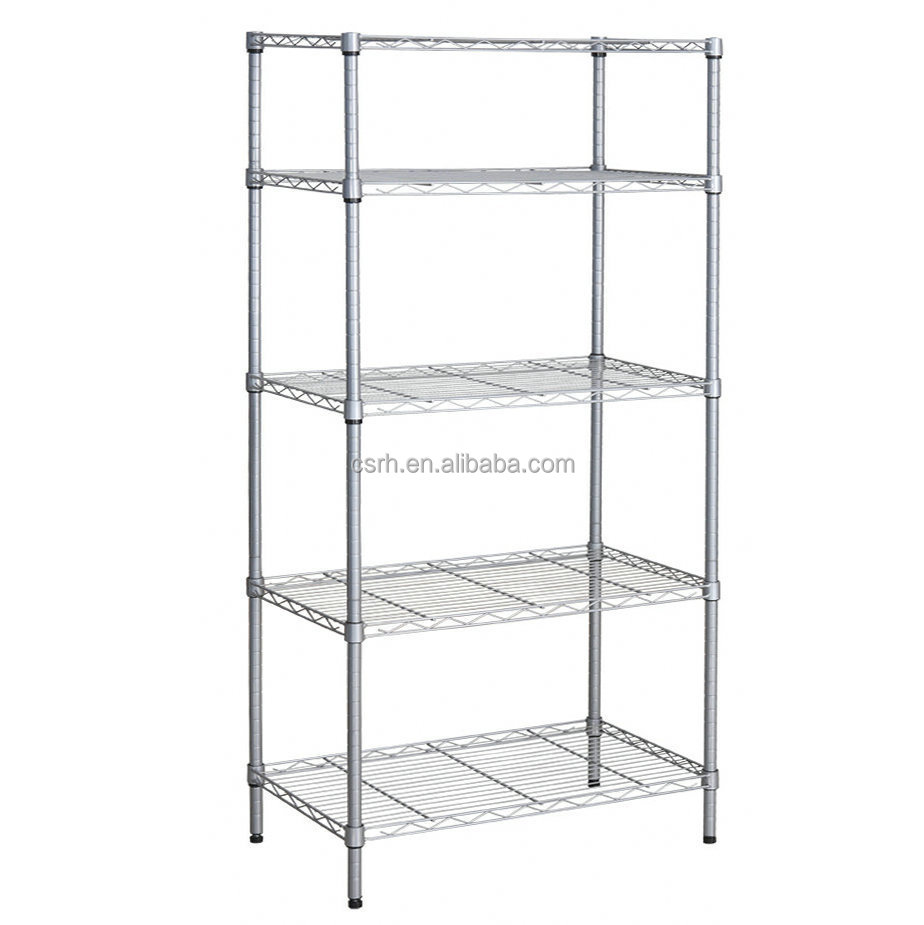 5 tiers commercial wire shelving buy commercial wire. Black Bedroom Furniture Sets. Home Design Ideas