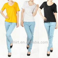 Factory outlets cheap women fitted blank t-shirts