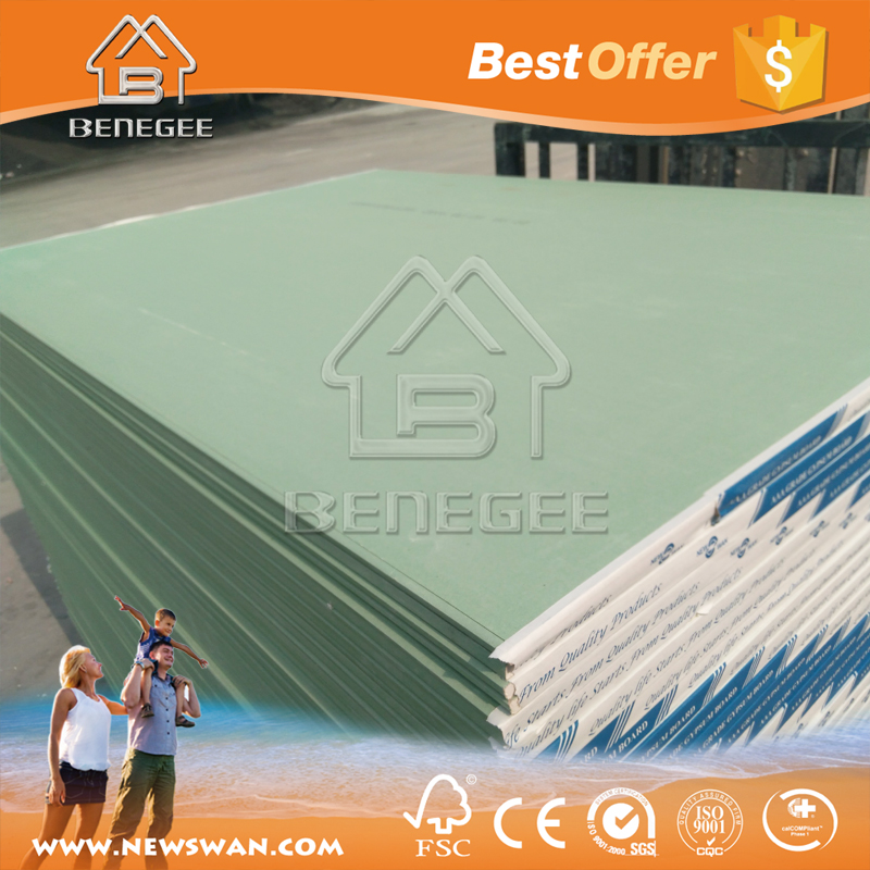 Green Board Drywall Price / Waterproof Drywall Gypsum Board / Gypsum Wall Panel