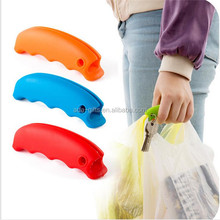 Colorful silicone shopping bag grip handle