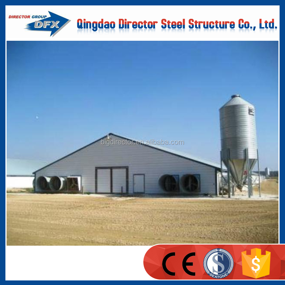 cheap poultry farming prefabricated industrial chicken house