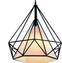 Nordic Retro Iron Chandelier Simple Diamond Chandelier for Western Restaurant decorative lamp