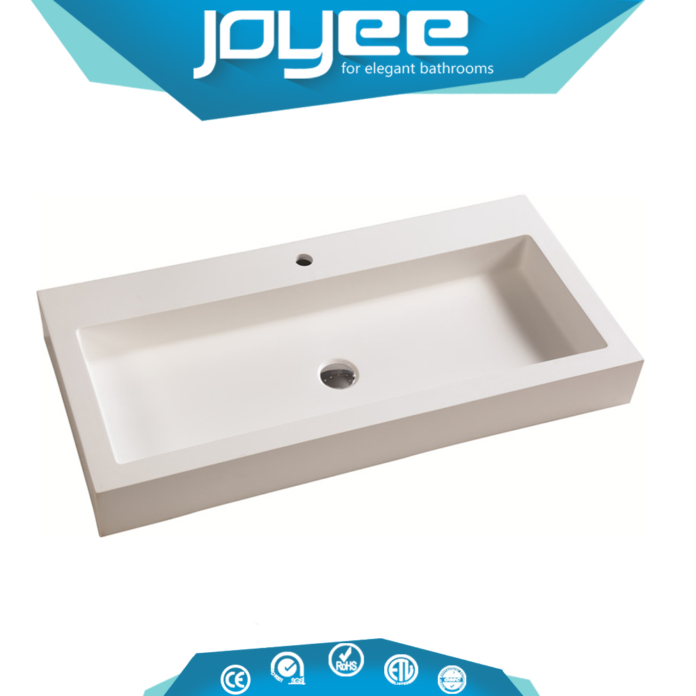 J-YL2050 Wholesale Porcelain Material Stone Bathroom Sink Drop in Cabinet Washing Basin Countertop Basin