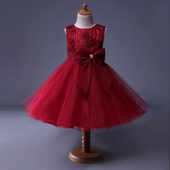 New Arrival Red 4 years old cheap dresses teenage korean girls party dresses