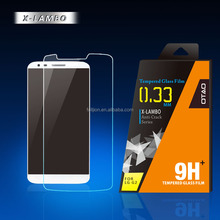 anti shock and anti fingerprint 0.2mm 0.33mm 9H tempered glass screen protector for LG G2 with free samples to your test