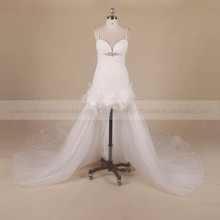 Fashionable Style Front Short Wedding Dress With Detachable Skirt