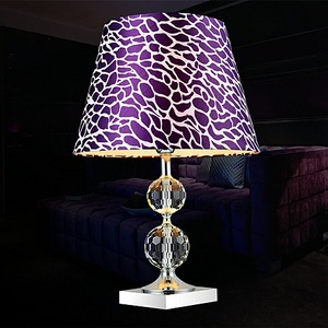 Zhongshan wholesale cheap glass K9 ball crystal table lamp with lampshade for bedroom