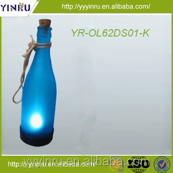 kinds of color charged by the sunshine alcohol bottle solar lighting
