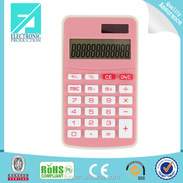 Fupu 12 digits mini size desktop calculator solar power calculator