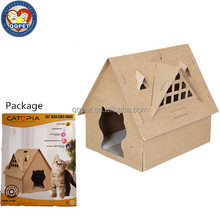 QQPET Pet Factory Wholesale DIY Foldable Recycled Cardboard Cat House Scratcher Model 4 for Cat
