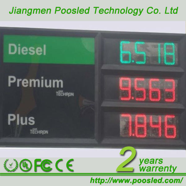 gas led display \ diesel gas station \ gas station price changer