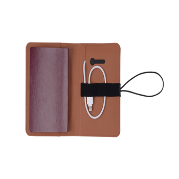 Factory Price Custom Leather Power Bank Passport Holder