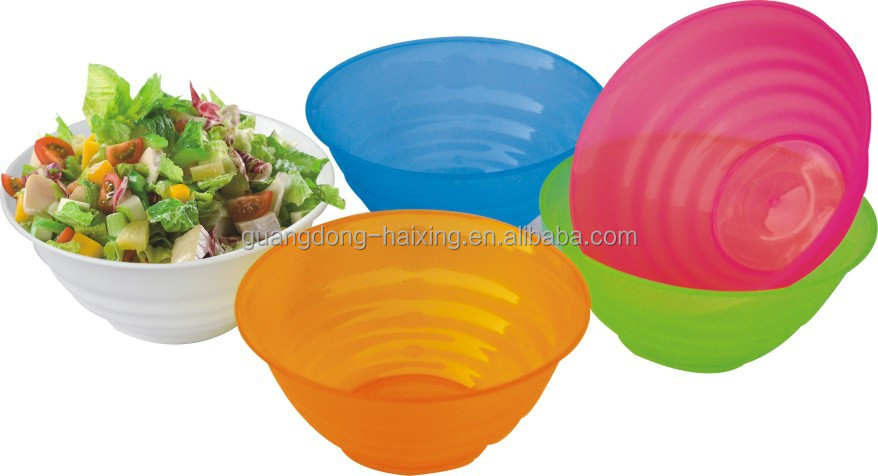PP Material round food and vegetable grade transparent plastic cover salad bowl with lid