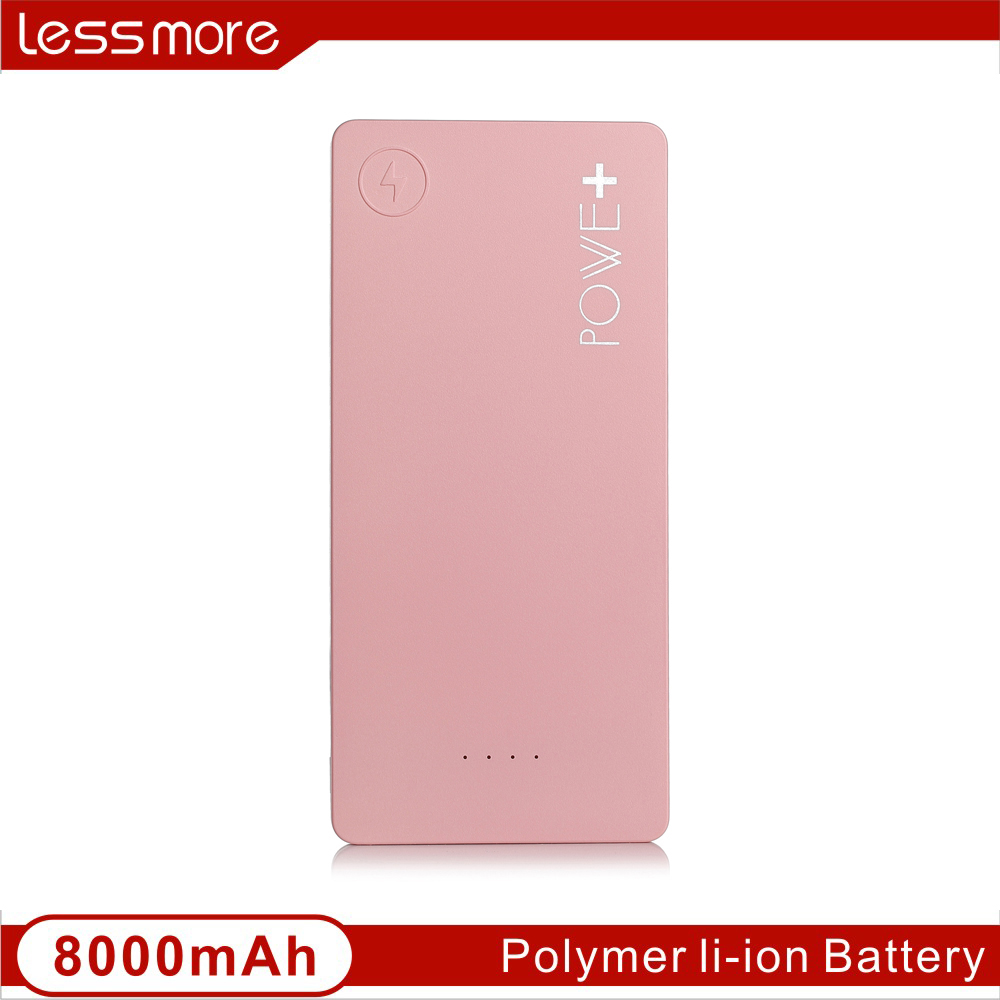 Hot products Korea two-sides 8000mah real capacity Portable charger gorgeous for young restaurant power bank