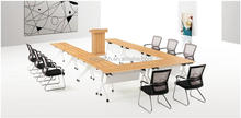 Modern wooden folding conference table With Wheels U shape (FOH-TD1407-H)