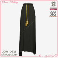 hot sale 100% viscose crepe long maxi skirt pictures of long skirts