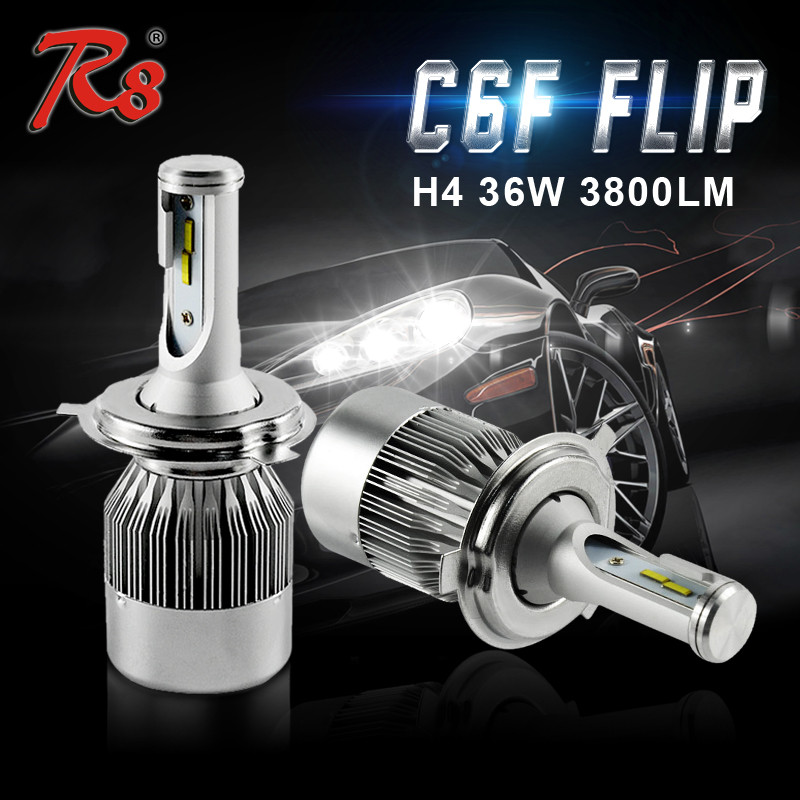 High Power C6F Turbo H4 H13 9004 9007 Crees Xhp50 LED Headlight Crees LED Headlight H4
