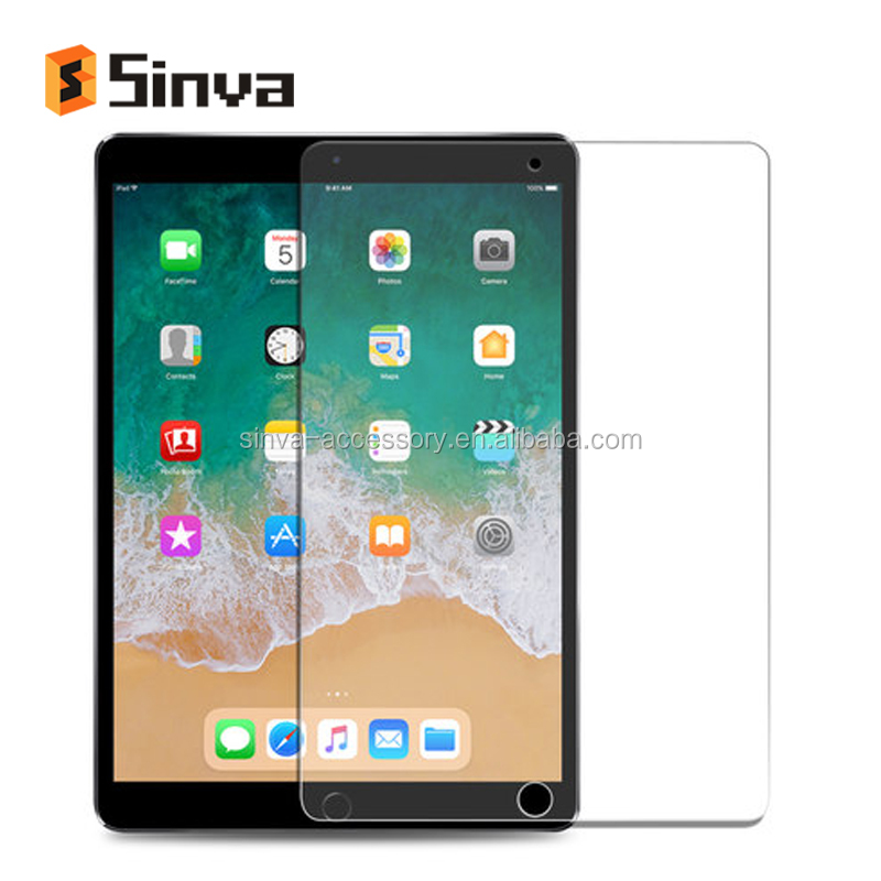 Hotsale Brands Sinva 2.5d round edge tempered glass for ipad pro 10.5 apple laptop anti explosion glass screen protector