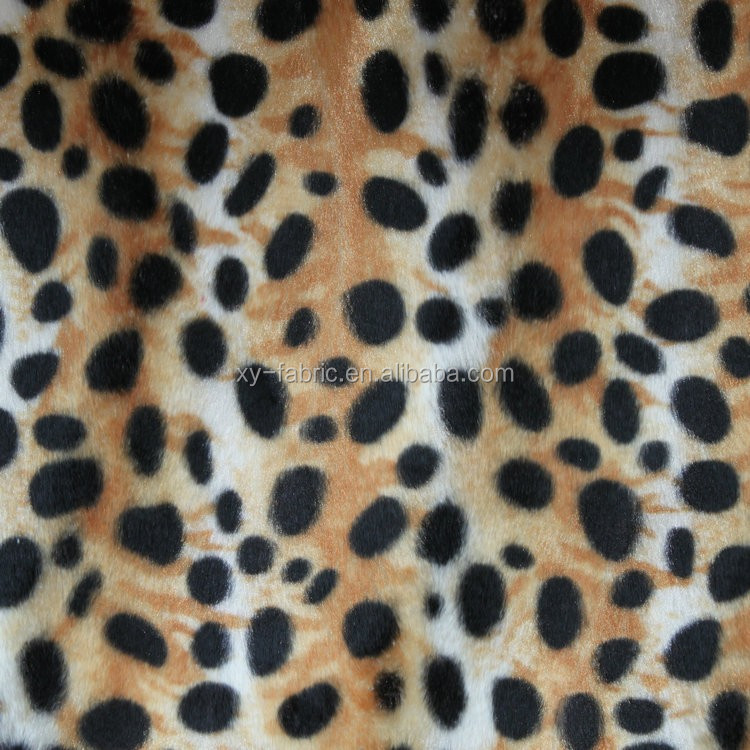 2016hot-selling animal print velboa fabric for sofa and pillow cover