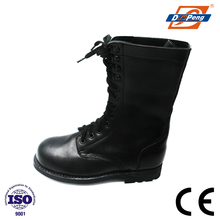 genuine leather riding black knight safety boots with plastic toe cap