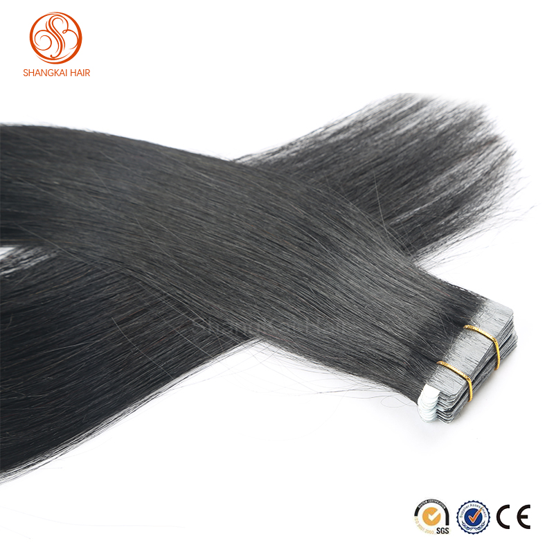 African American human Straight hair wefts for black women Tape human hair extensions