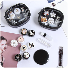 Creative metal, contact lens box, lovely rabbit care box