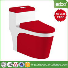 Good sell for malaysia and South American floor mouted siphon one piece red color toilet
