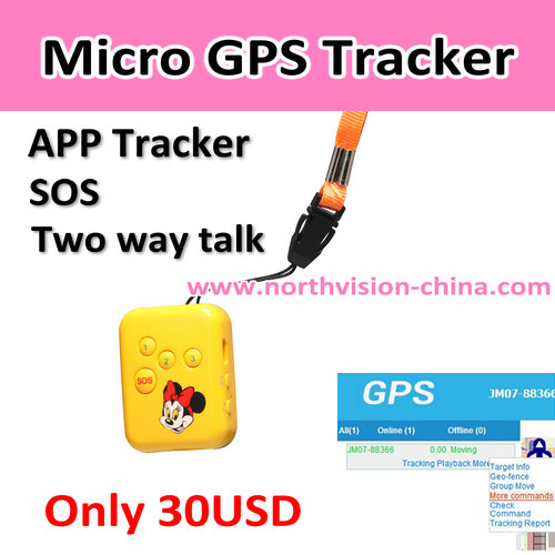Built in mircophone gps tracker kids protect your kids/child/old people
