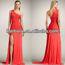 Elegant One-Shoulder Gown Red new style fashion dress for less bandage dress