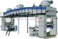 Dry-method high speed laminating machine/ laminator , rolled plastic film material with other materials