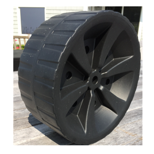 10'' blow molded plastic foldable wagon wheel