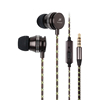Kimmar 3.5mm Flat Cable Earbuds Stereo Basss Sound Metal Earphone For Gift iPhone iPad iPod Android Smartphones Tablets Laptop