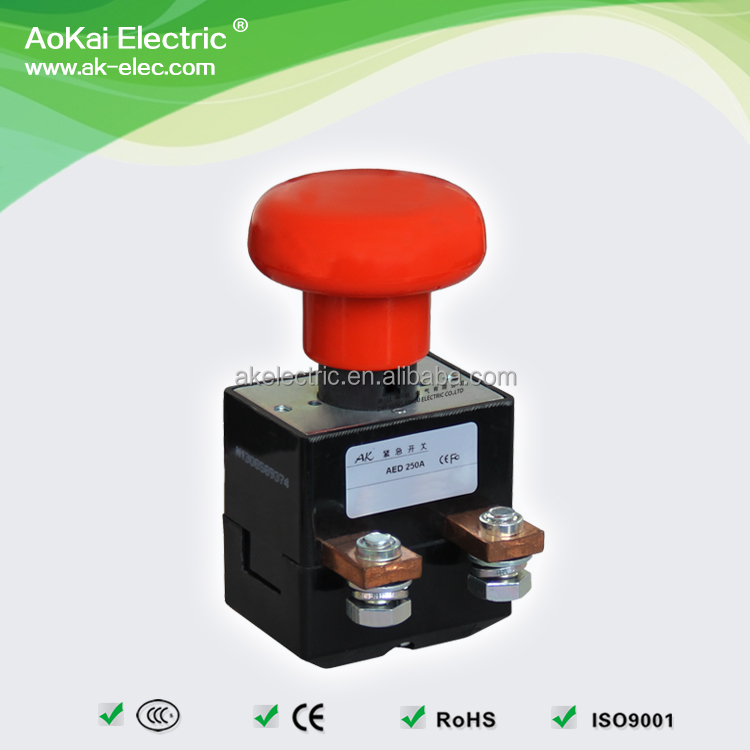 AED250A 250A 80V Push Button <strong>Switch</strong>, for Battery Powered Vehicles 1NO AOKAI Emergency <strong>Switch</strong>*