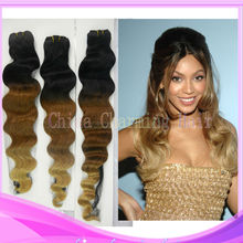 tree tone China best selling 100% brazilian virgin body wave human hair weave weft