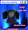 Full color 7pcs 20w RGB 3in1 LED Studio light with Zoom