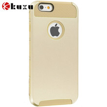 Blank Golden rugged silicon case for apple iphone 6 4.7inch