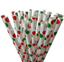 Wholesale Party Drinking Paper Straws For Christmas Day