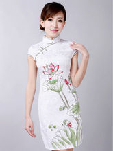 China manufacturers wholesale sleeveless satin cheongsam
