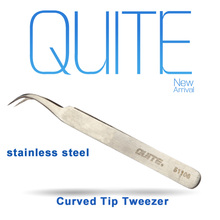 High Quality High Precision Stainless Steel Curved Tips Tweezer With Laser Marking