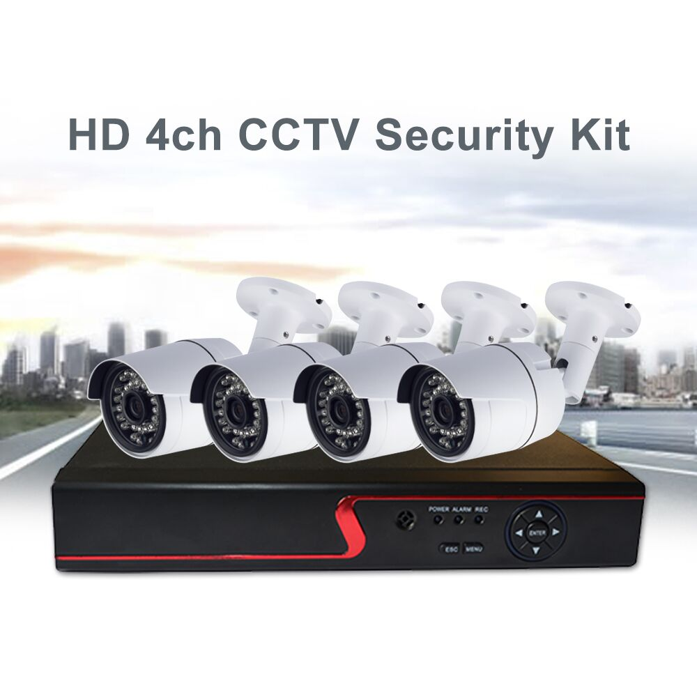 HD 1080P outdoor IP66 CCTV camera system 4ch DVR kit