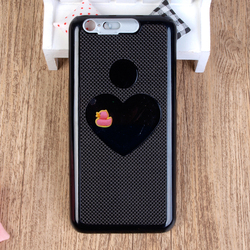 Custom Factory Carbon Fibre Liquid Floating Duck Case Cover For iPhone 6 6S