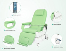 Electric blood collection chair for hemodialysis use