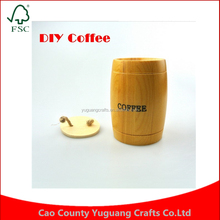 Customize 1PC Free Shipping Capacity Coffee Bean Wooden Barrel