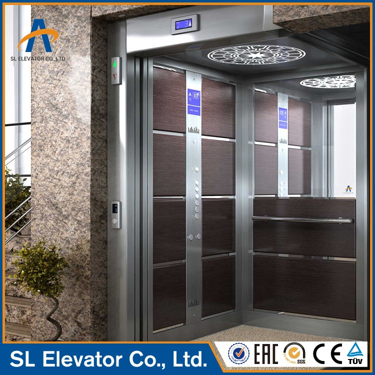 Luxury Hairline Stainless Steel Commercial Elevator Cabin